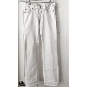 White Guess Jeans - Starlet Straight leg  size 27